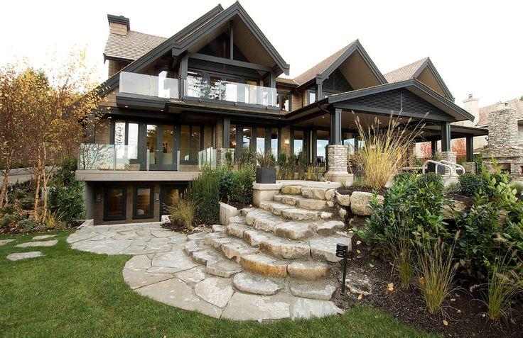 95 best walkout basement images on Pinterest | Landscaping ... on Walkout Basement Patio Designs id=26363