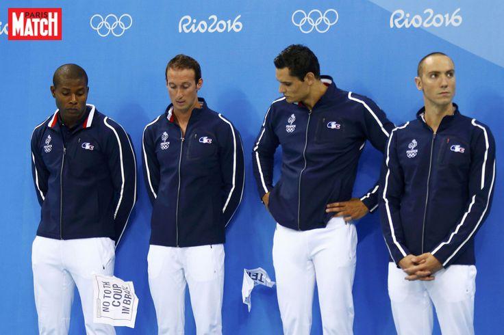 L'équipe française du relais 4x100 nage libre a remporté l'argent à Rio juste derrière les Etats-Unis de Michael Phelps.