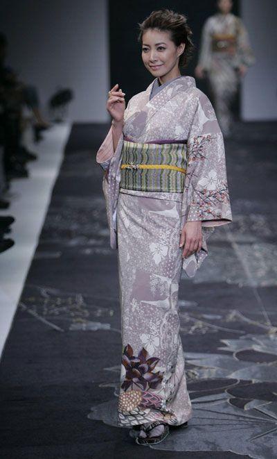 Japanese kimono designer Jotaro Saito at Japan Fashion Week