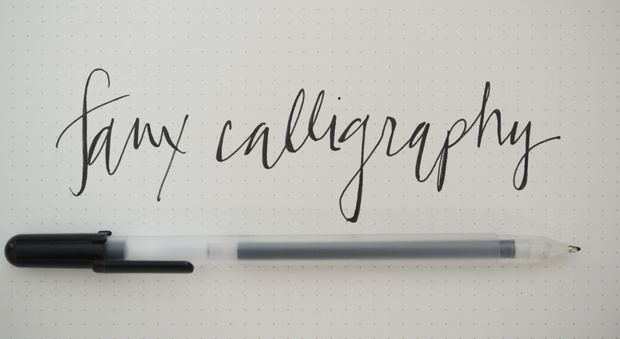 Faux Calligraphy | Cupcakes & Cashmere