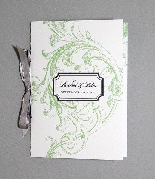 florid scroll 4 page program template our wedding stationary