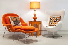 Guarantee you have access to the best orange midcentury home decor inspirations to decorate your next interior design project - What kind of pieces do you need? Armchairs? Sofas? Bar chair? Sideboards? Tables? Desks? Cabinets? Lighting? Find them all at http://essentialhome.eu/
