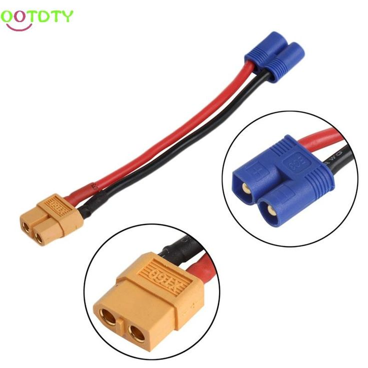 1Pc For RC Accessories EC2 Male Banana Connector To XT60 Plug Female Wire Adapter for RC Lipo Battery