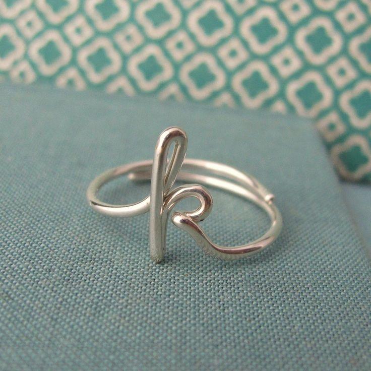Custom Initial Ring-any initial available. $45.00, via Etsy.