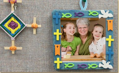 66 best craft stick picture frames images on pinterest for Vacation bible school crafts for adults