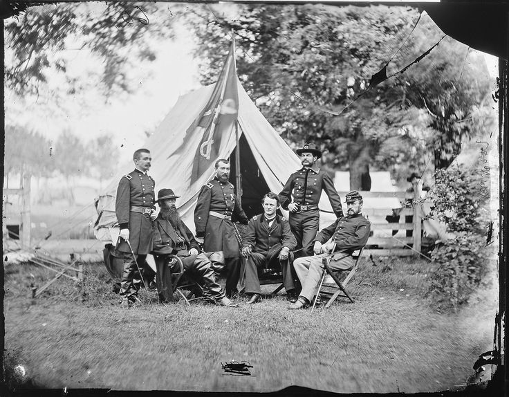 General Philip Sheridan, General Wesley Merritt and Others, Including General Henry E. Davies? | by The U.S. National Archives