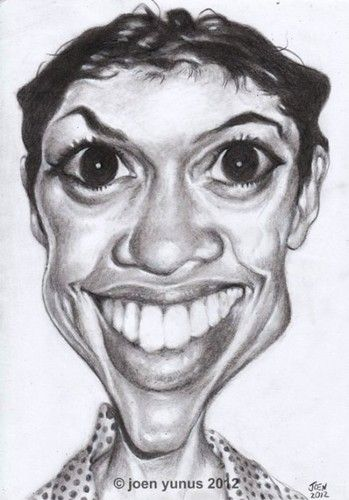 rosario dawson | charcoal on paper | by Joen