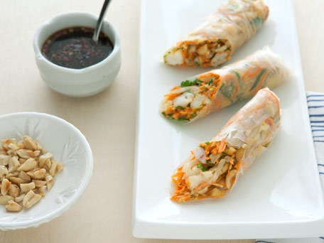 Thai Spring Rolls with Shrimp... try substituting the mayo for peanut oil and serve with a simple soy sauce