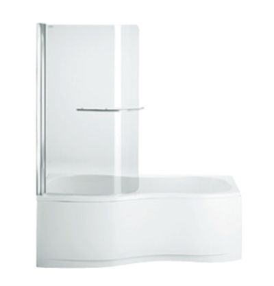 Freelance Bath Screen 900mm Curved  Features:    Freelance bath screen, for use with Freelance shower over bath.  The Freelance shower over bath is the perfect solution for small, restorative bathrooms.  Available as left or right hand shower option with chrome towel rail.