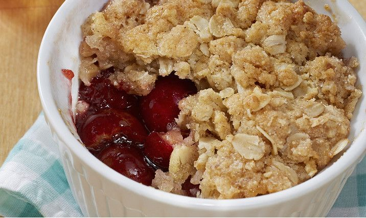 This recipe for Individual Cherry Crisps looks yummy!  The only thing to make it better? Nutrition info!