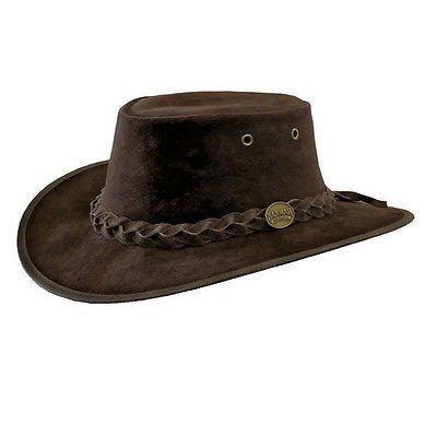 Barmah Hats Foldaway Suede Packable Australian Outback Hat | eBay
