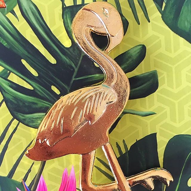 Sass up your life with this gorgeous gold flamingo bottle opener you'll never be ashamed to look in your kitchen drawer again