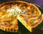 Basic quiche #recipe. Eggs, ham, condensed milk, peppers, spring onion. Follow the link for cooking instructions.