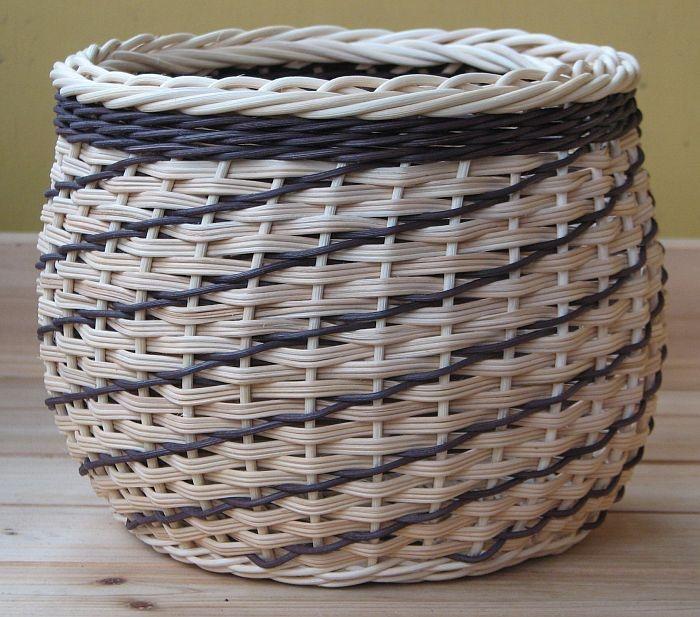 Diagonal Weave Basket
