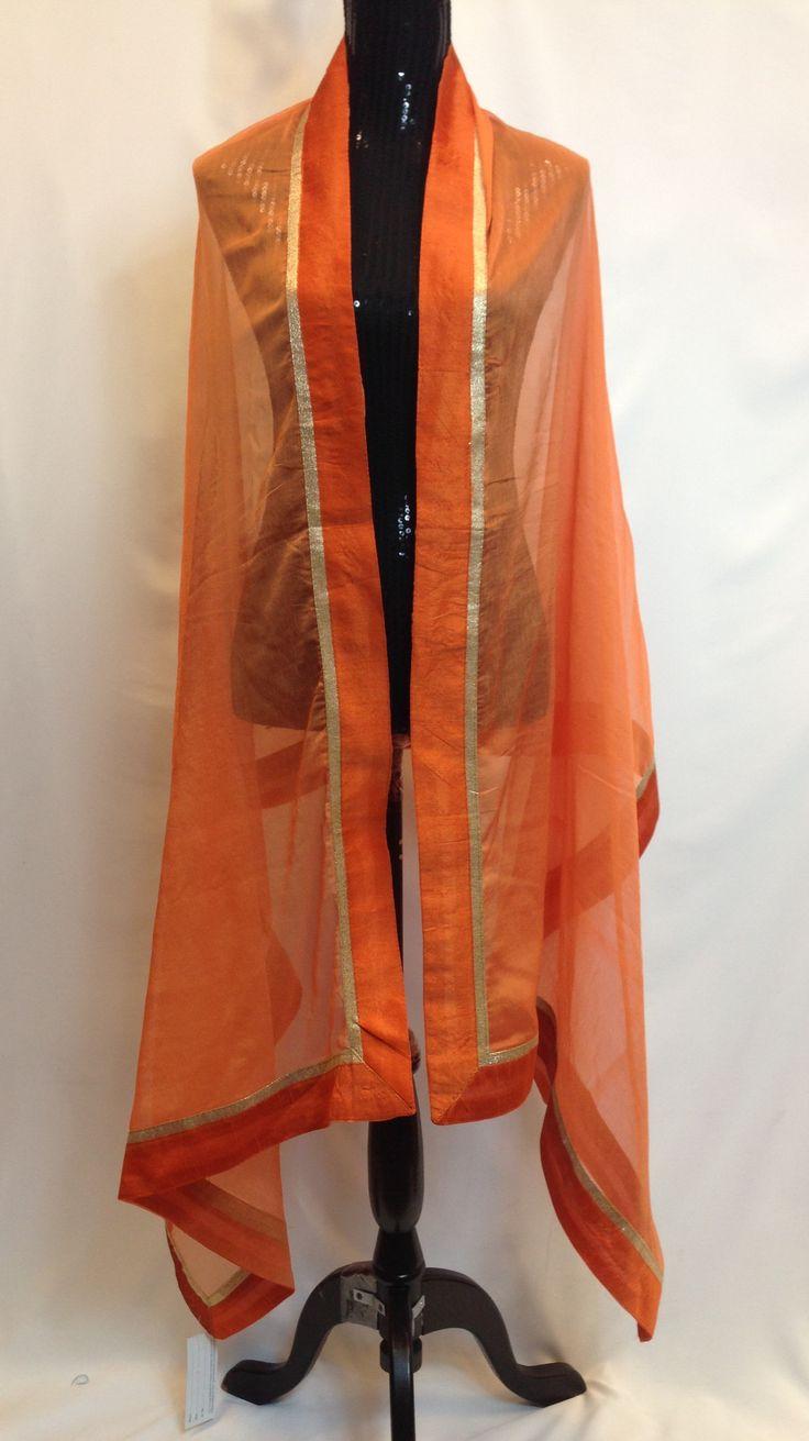 Chiffon Dupatta - Orange