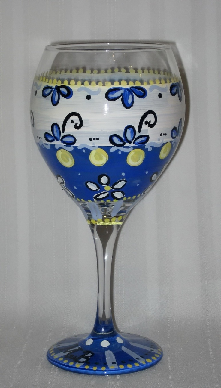 39 best images about wine glass craziness by clearly molly for Hand painted glassware