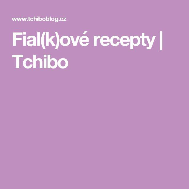 Fial(k)ové recepty   Tchibo