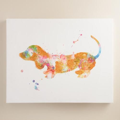 One of my favorite discoveries at WorldMarket.com: Textured Dachshund by Francesca Rizzato