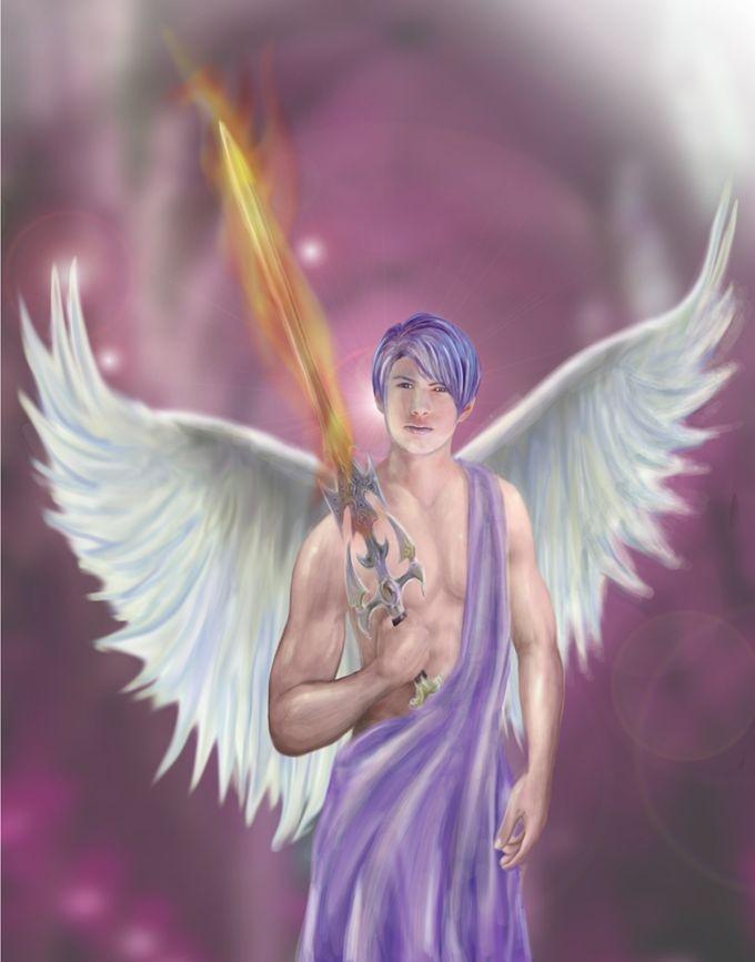 """""""Archangel Zadkiel"""" by Jennifer Lee"""
