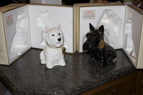 Black And White Scotch Dogs Decanters