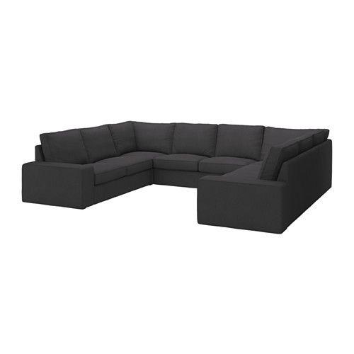 IKEA - KIVIK, Canapé, en U, 8 places/Dansbo gris foncé, , Garantie 10 ans. Détails des conditions dans le livret Garantie.