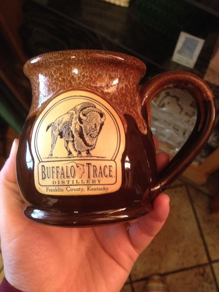 Buffalo trace hand made kentucky mug love the glaze and