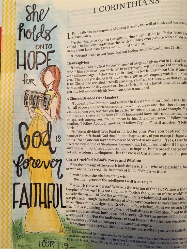 1 Corinthians 1:9 God is forever faithful