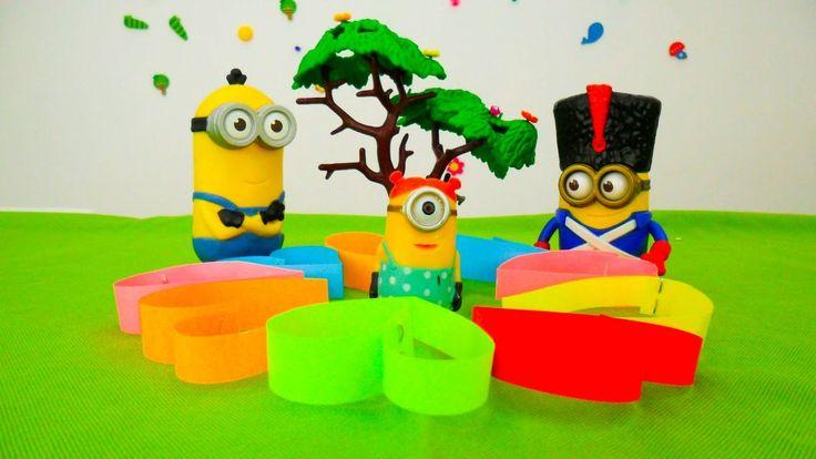 Детские игрушки МИНЬОНЫ и поделка из бумаги. Видео про игрушки из мультф...