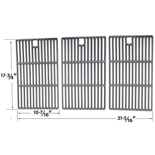 3 PACK CAST IRON COOKING GRID REPLACEMENT FOR LIFE@HOME, BROILCHEF GSC3218WB, PERFECT FLAME SLG2006C, SLG2006CN, SLG2007D, SLG2007DN, 225198, 14103, 67119, 65499 GAS GRILL MODELS  Fits Life@Home Models : GSC3218J, GSC3218JB, GSC3218JBN, GSC3218JN  BUY NOW @ http://grillrepairparts.com/shop/grill-parts/cast-iron-cooking-grid-replacement-for-broilchef-gsc3218wb-perfect-flame-slg2006c-slg2006cn-slg2007d-slg2007dn-225198-14103-67119-65499-gas-grill-models-set-of-3/