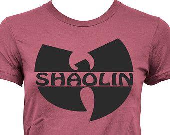 "LADIES Women WU Tang ""SHAOLIN"" Fashion Style T-Shirt 6004 hr"