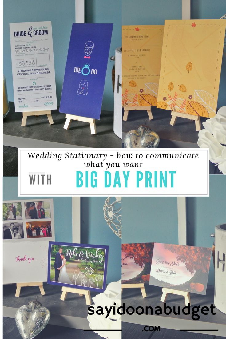Blog Post Collab with Big Day Print on choosing your wedding stationary on sayidoonabudget.com