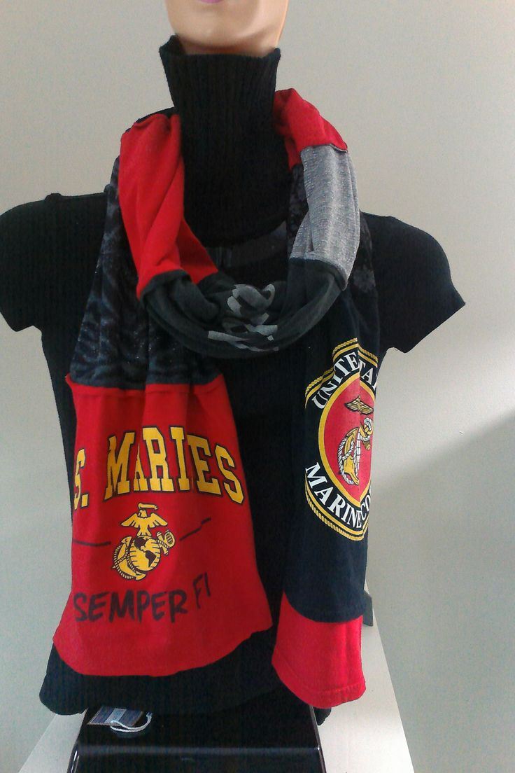 $15.00 - ITEM #MARINES01: Marines scarf. Measures approx.. 84 in long.