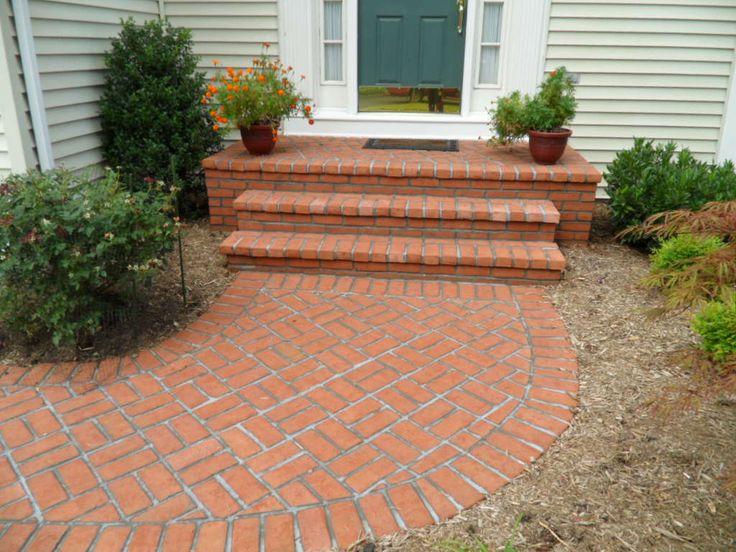 41 best brick steps images on pinterest | brick steps, front steps ... - Patio Brick Designs