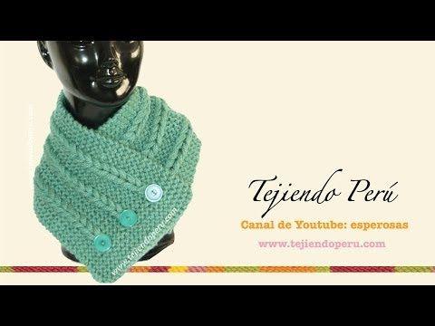 Conjunto de bufanda con eslabones y gorro tejidos en dos agujas - YouTube