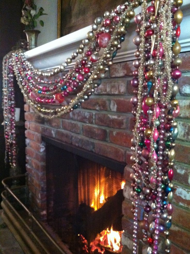 Antique glass bead garland