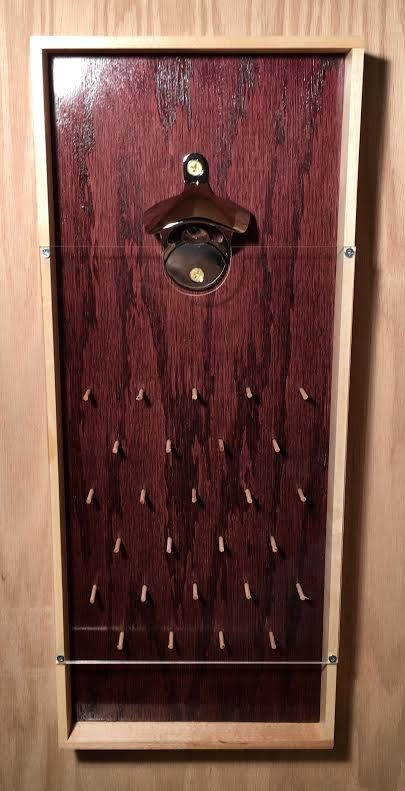 Plinko Stil Bier Flaschenöffner in Black Cherry von CTGWoodworking