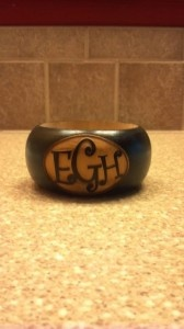 Customized wood bangles. You pick the letters, you pick the color, and you choose how to show it off! Her work is amazing!  http://www.etsy.com/shop/LetsBangle