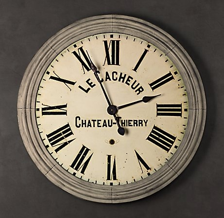 Chateau Thierry Clock For Restoration Hardware For