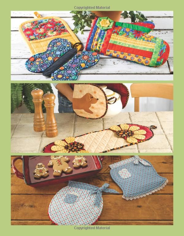 Pot Holders, Pinchers and More: 20 Colorful Designs to Brighten Your Kitchen: Amazon.co.uk: Chris Malone: Books