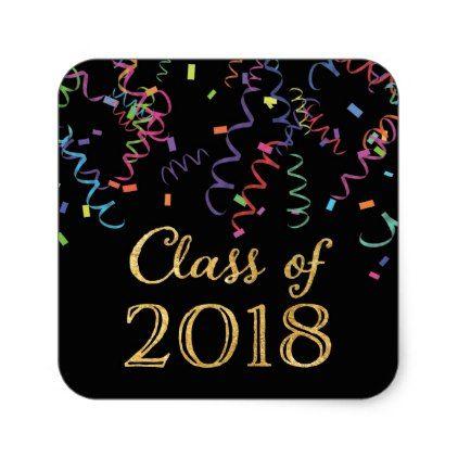class of 2018 celebration confetti stickers in 2018 graduation