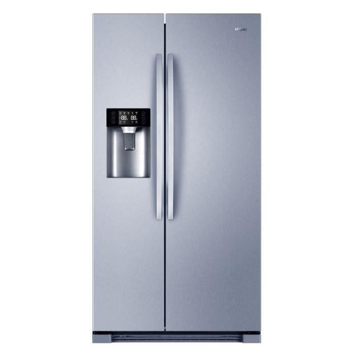 Américain - 550L (375+175) - Froid ventilé - A+ - Distributeur d'eau - L 90cm x H 179cm - Silver