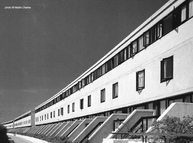 The Alexandra and Ainsworth Estate 'Rowley Way', designed by Neave Brown for Camden Council's Architects Department in 1968-69, constructed 1972-78.