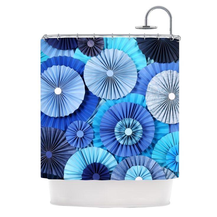 "Kess InHouse Heidi Jennings ""Blue Lagoon"" Aqua Navy Shower Curtain"