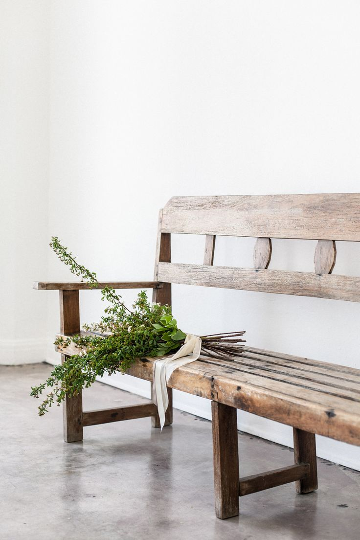 farmhouse style white and wood. entryway bench. | MODERN ...
