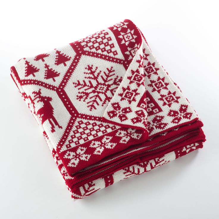 Warm your home in holiday spirit with Saro Lifestyle's Sevan Collection wonderfully soft knitted christmas design throw. This throw blanket measures at 50 inches by 60 inches. Colors: Red Materials: 1