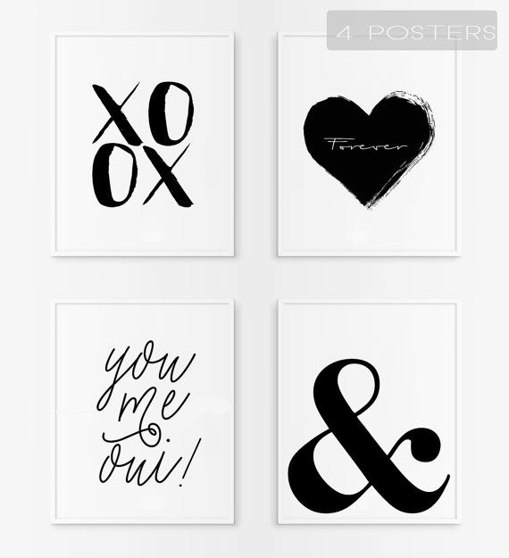 Love posters. Minimalist poster. Printable love quote. por Byoliart