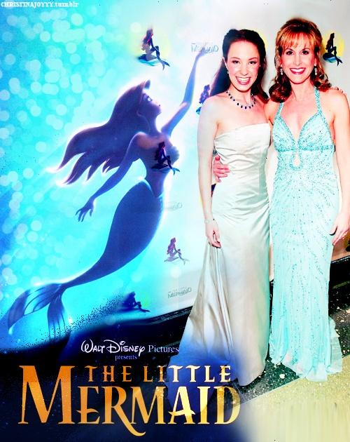 Sierra Boggess (little mermaid broadway) and Jodi Benson (little mermaid film)
