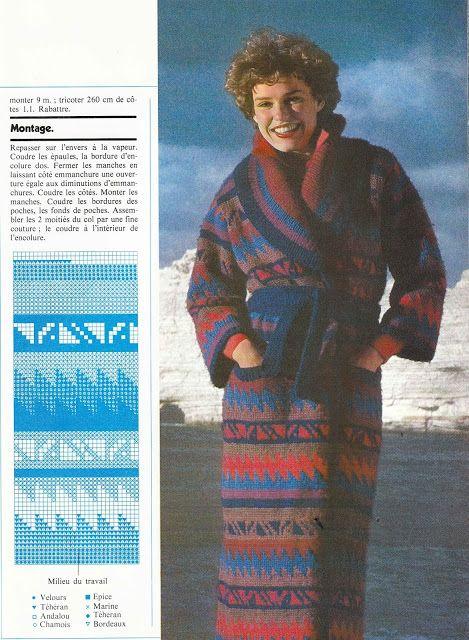 DIY vintage, couture, tricot, loisirs créatifs, années 70: Magazine tricot PINGOUIN N°7 (2/3) manteau mexicain femme