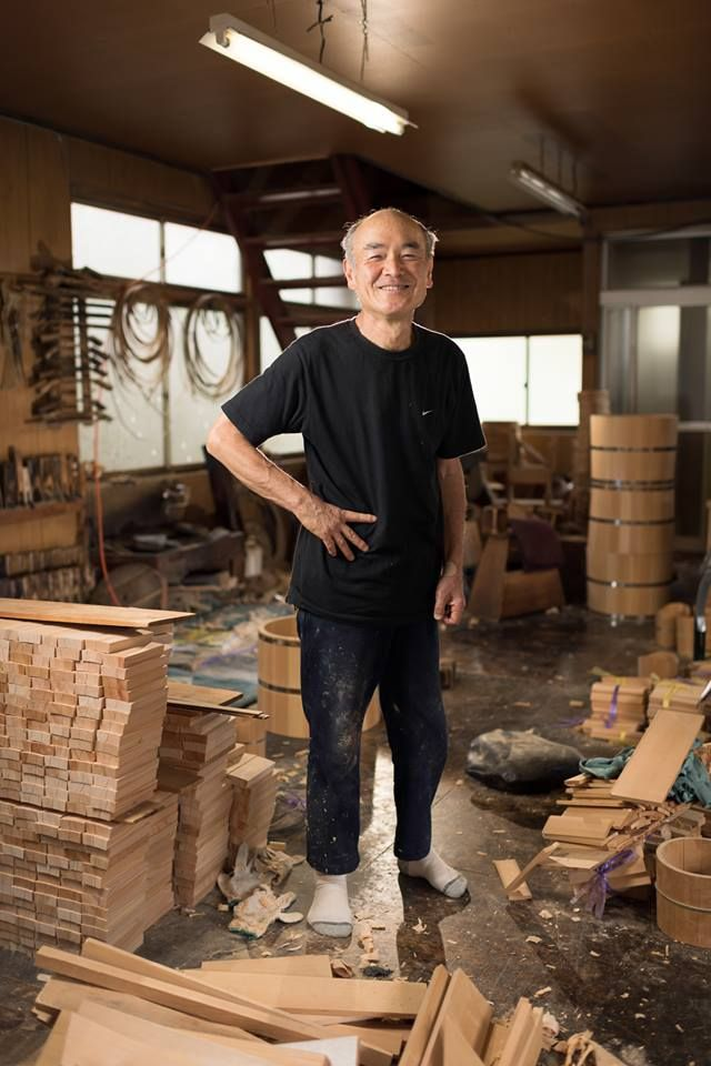 """What's traditional crafts for you ?"" - ""Life."" For him, handicraft is not only art, but the purpose of life. #purpose #art #handcrafted #Japan #winecooler #wood #home #handmade"