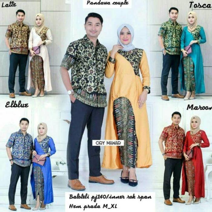 batik sarimbit pandawa couple terbaru kombinasi setelan model baju grosir b6cdf615c0